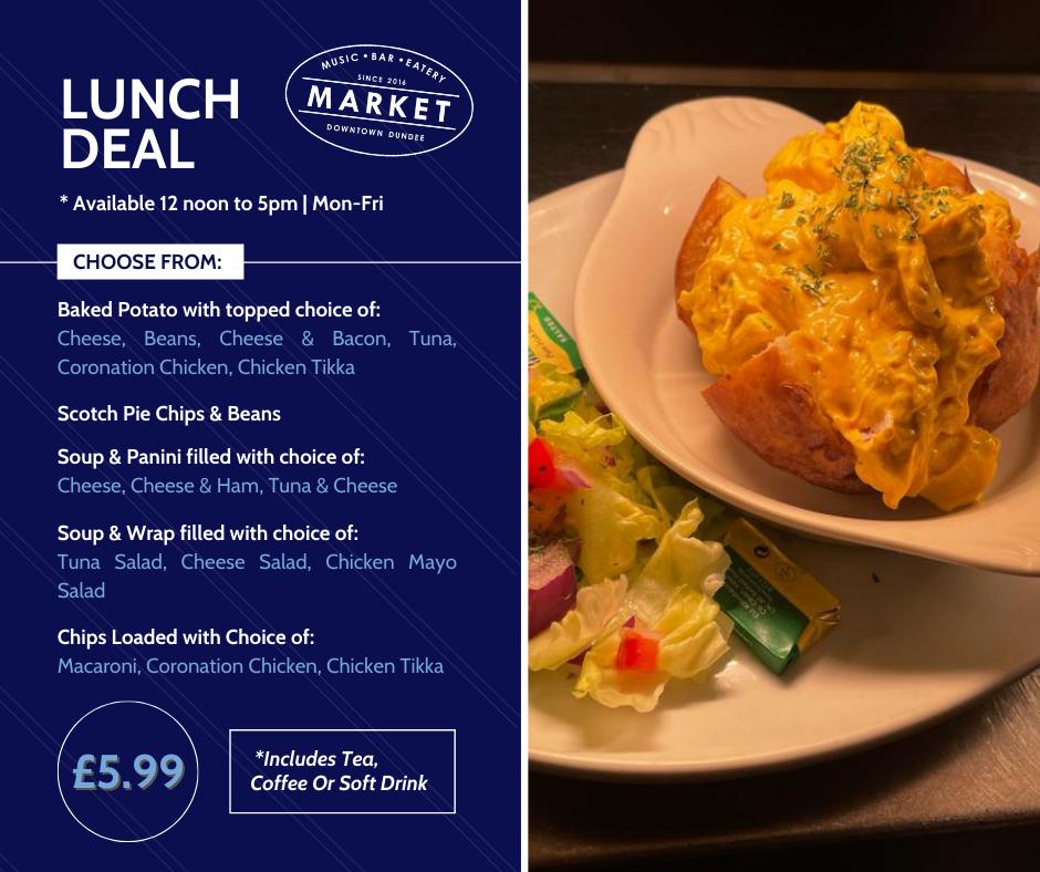 Market Dundee Lunch Menu Deal